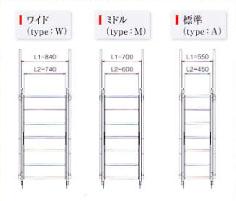 傾斜自在の昇降階段決定版 ラクラクタラップカタログ④